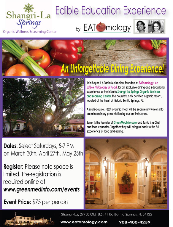 Edible Education Experience : SERIES AT SHANGRI-LA SPRINGS Resort in Bonita Springs